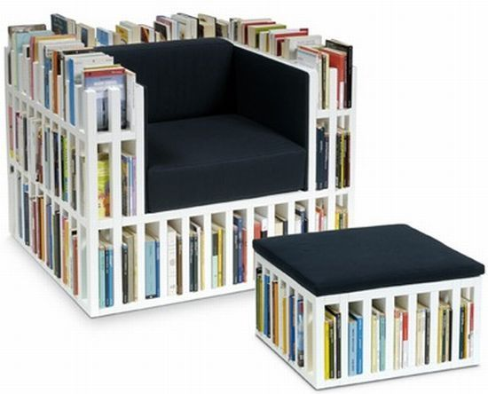 Crowded Bookcase Chairs