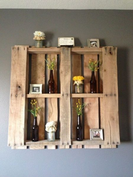 Ingenious 21 Wooden Pallet Shelves Ideas
