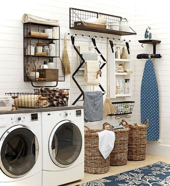 Laundry room decor ideas for small spaces small house decor - Ironing board solutions for small spaces ideas ...