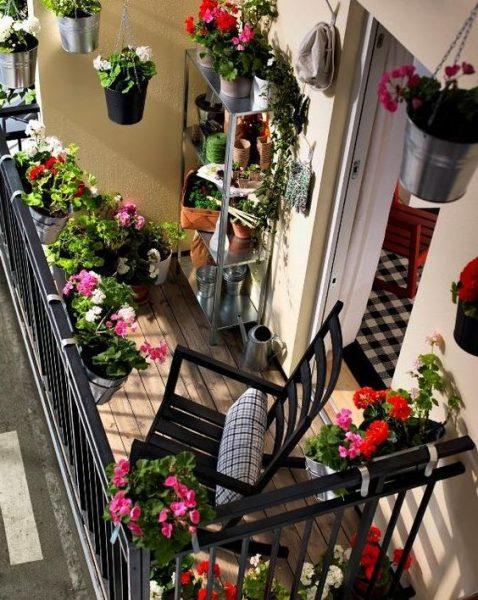 Flower Garden On Balcony Ideas