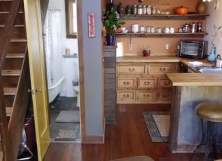 Garage Rustic Tiny House Interiors