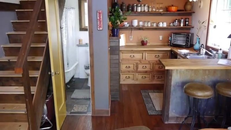 Garage Turned Into Modern Rustic Tiny House Small House