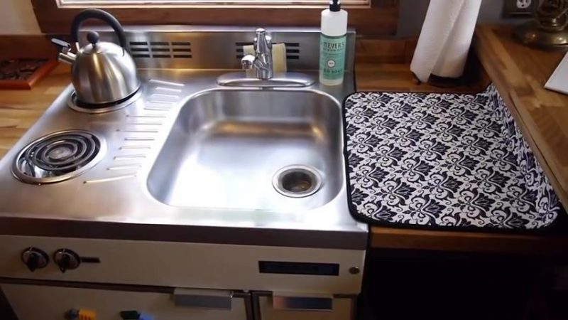 Garage Rustic Tiny House Kitchen Sink