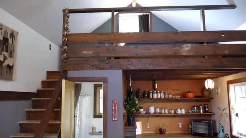 Garage Rustic Tiny House Loft View