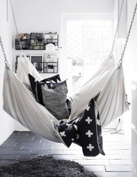 Indoor Hammock Near Sunroom