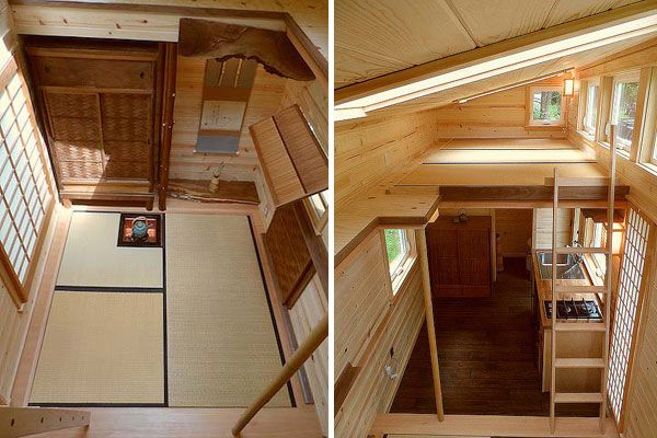134 sq ft japanese tiny tea house built under 34 500 for Interior designs for tiny houses