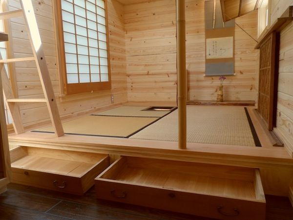 Japan Tiny House Under Floor Drawers