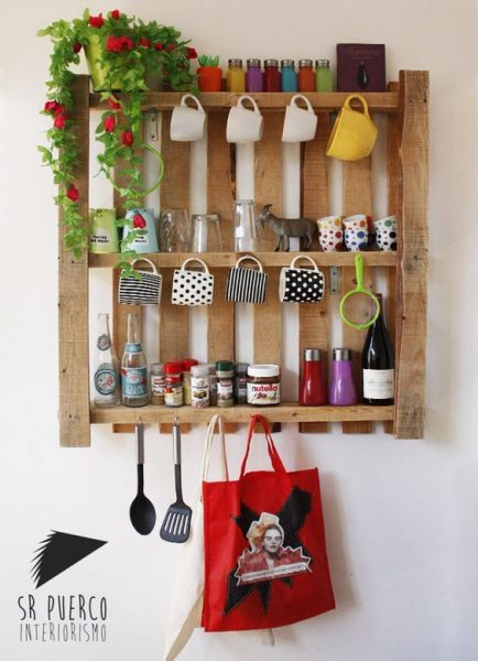 Kitchen Pallet Shelves