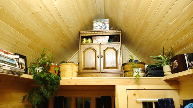 Off-grid Tiny House On Wheel Under Slopes Storage
