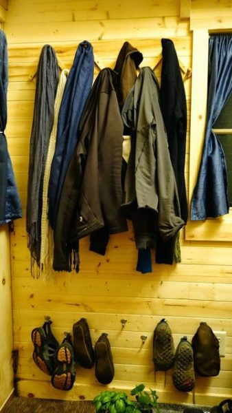 Off-grid Tiny House On Wheels coat rack