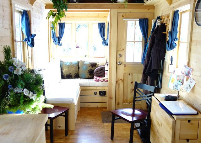 Off-grid Tiny House On Wheels Living Room Day