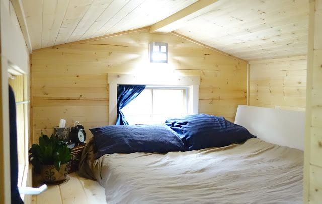Off-grid Tiny House On Wheels Loft Bed