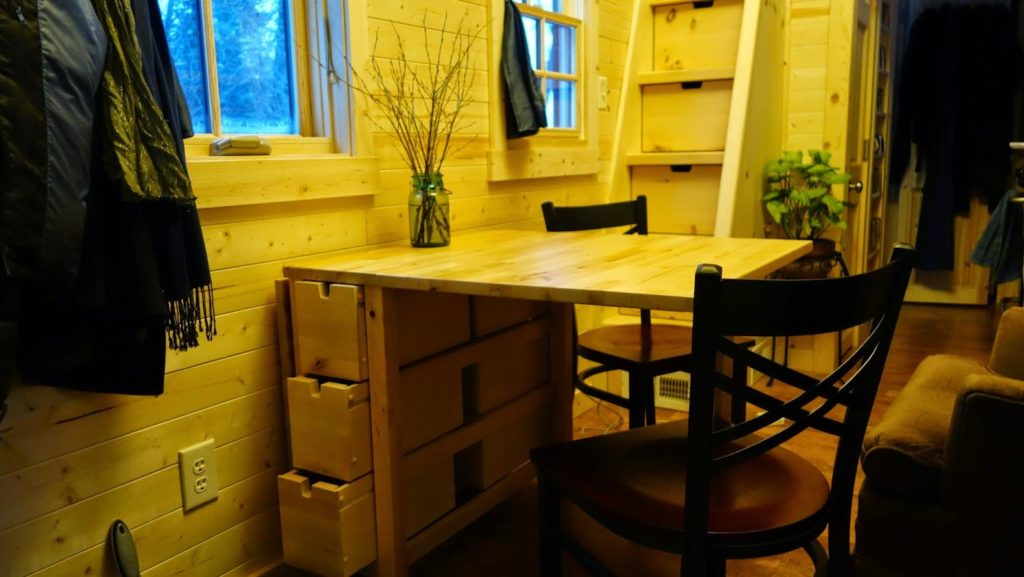 Off-grid Tiny House On Wheels Opened