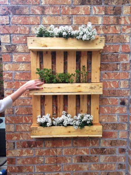 Pallet Shelves For Vertical Gardening