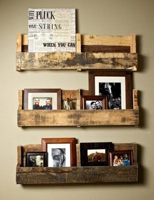 Pallet Shelves Photo Rack