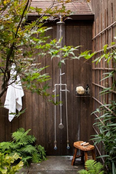 Pure Asian Style Outdoor Shower