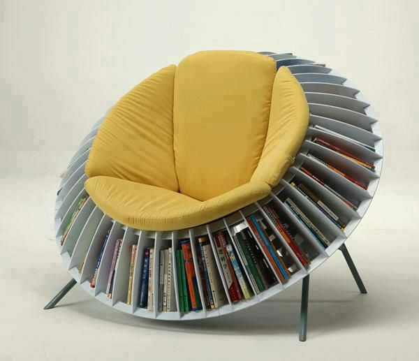 Round Chairs Bookcase