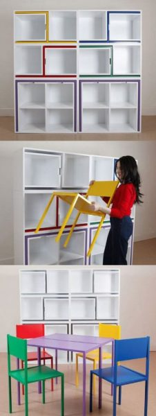 Shelves Chairs Design