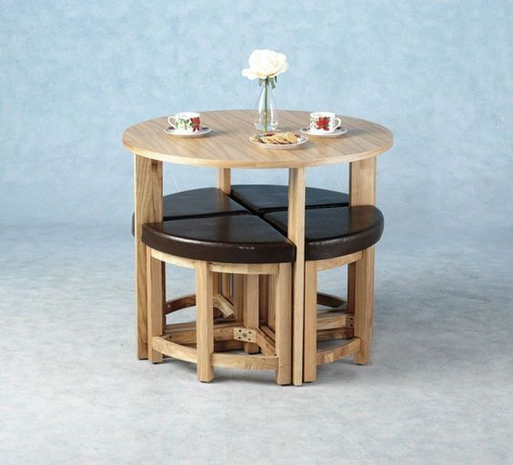 Compact Dining Table And Chairs: 15 Practical Space Saving Table And Chair Ideas