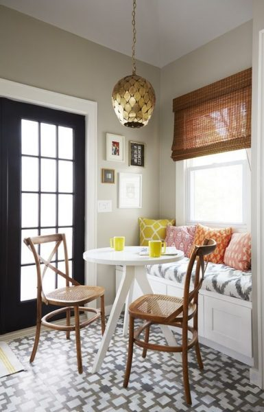 18 cozy and adorable breakfast nook ideas small house decor - Decorating for small homes ...