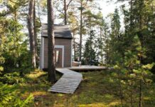 Small Cabin House Path Exterior