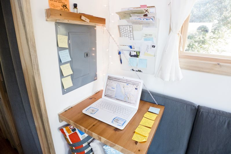 Tiny House Fold Down Desk
