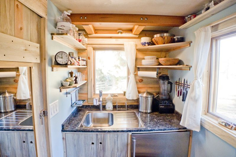 Tiny House Project Kitchen Shelves