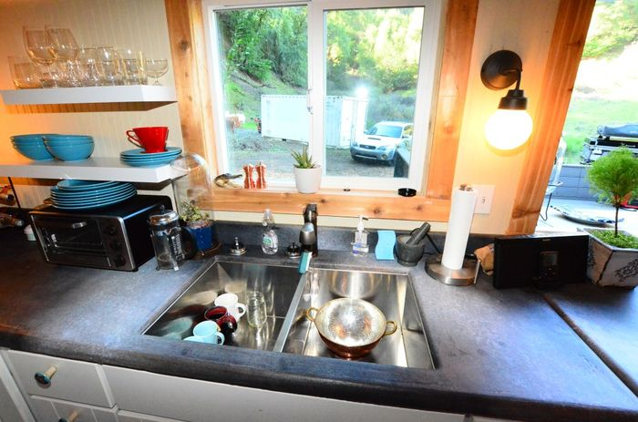 Tiny House Trailer Double Sink
