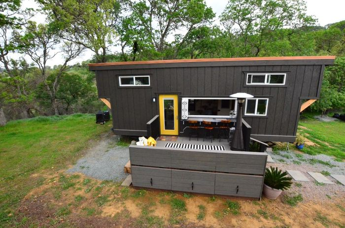 Tiny House Trailer Front View