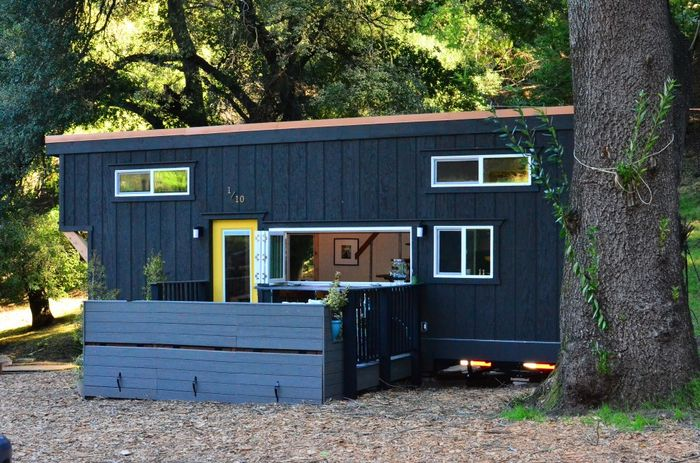 224 Square Feet Tiny House Trailer Exteriors Tours