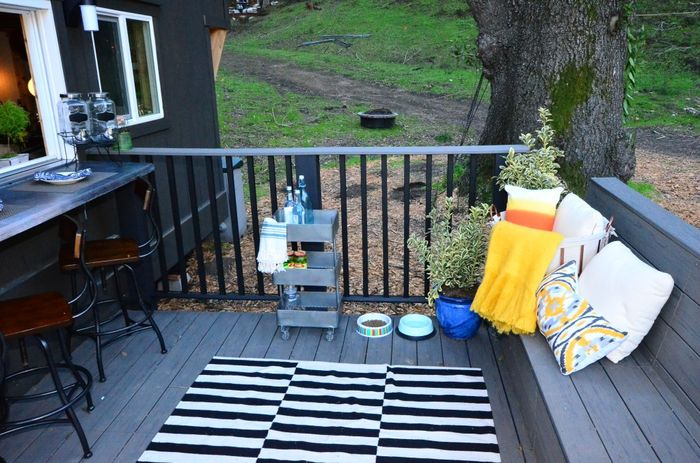 Tiny House Trailer Portable Deck