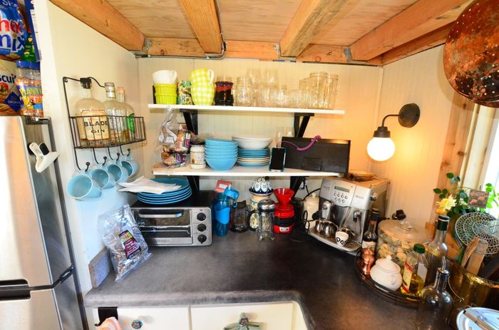 Tiny House Trailer Shelves