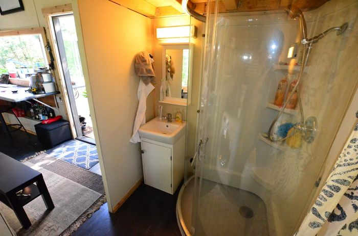 Tiny House Trailer Showers And Vanity