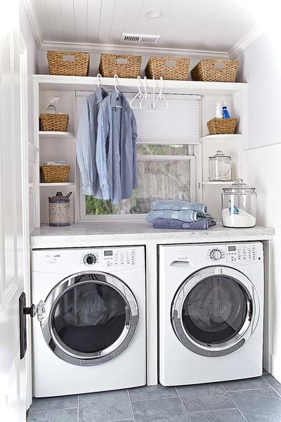 laundry room decor ideas for small spaces small house decor - Laundry Design Ideas