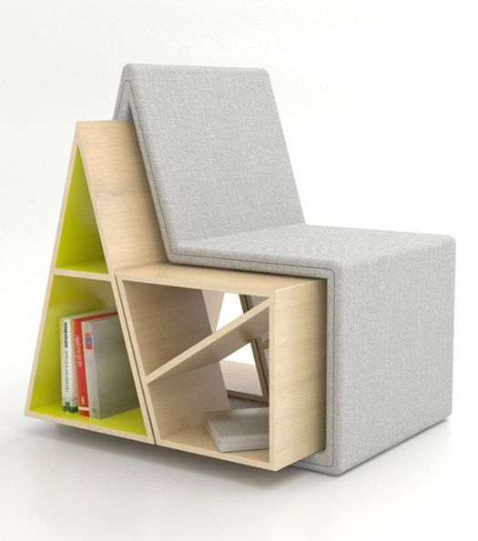 Triangle Bookcase Chair