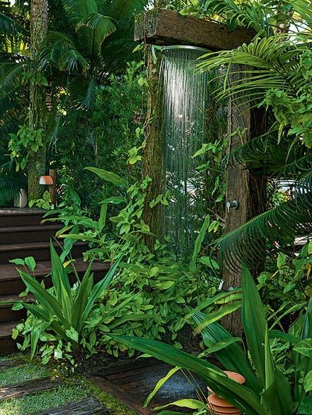 Tropical Jungle Outdoor Shower