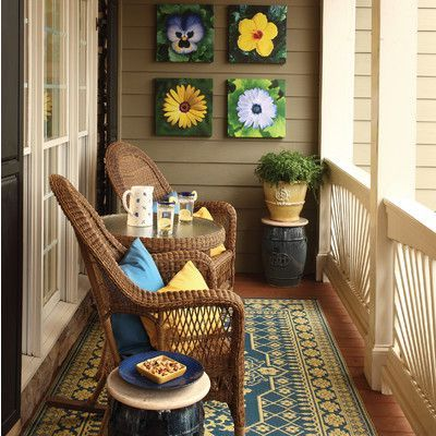 Warm Small Balcony Design