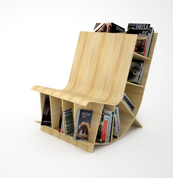 17 Innovative Bookcase Chair Designs Small House Decor