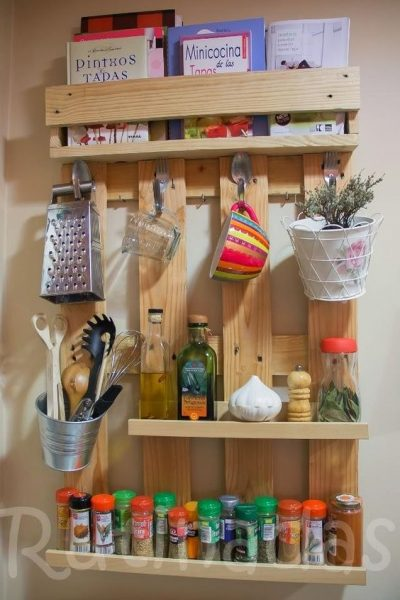 Wooden Pallet Shelves For Kitchen