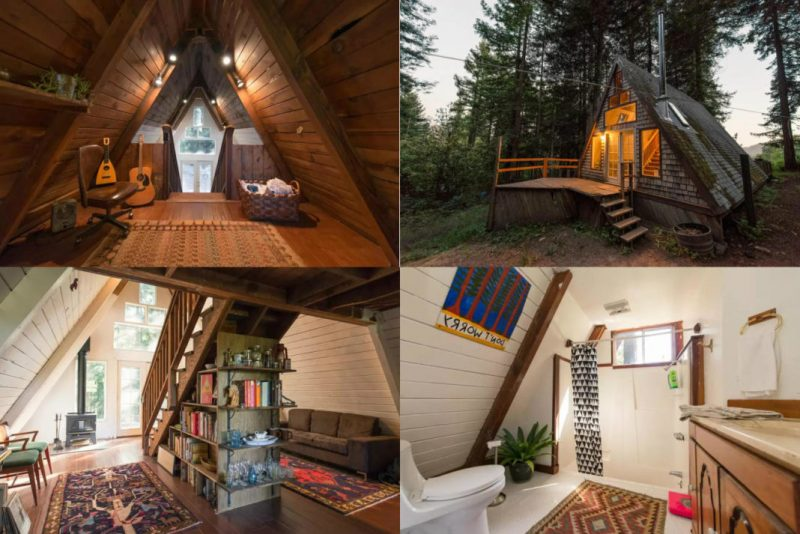 Tiny House Floor Plans Small Cabins Tiny Houses Small: Perfect Retreat In A-Frame Tiny Cabin (You'll Love It