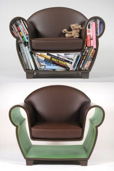 hollow bookshelf chairs