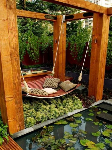 outdoor hammock bed ideas