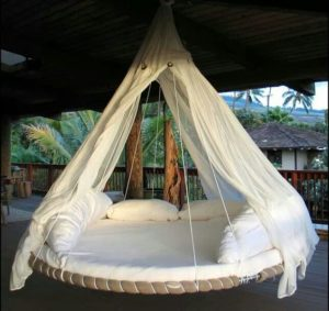 trampoline hammock bed indoor
