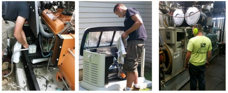 Safety measures for installing electric generators