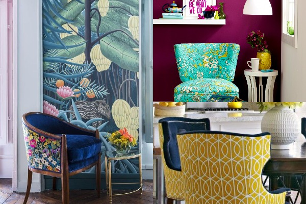 DIY Swap Out Chair Upholstery