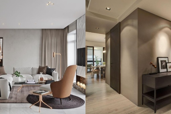 Taupe color and soft taupe color interior paint