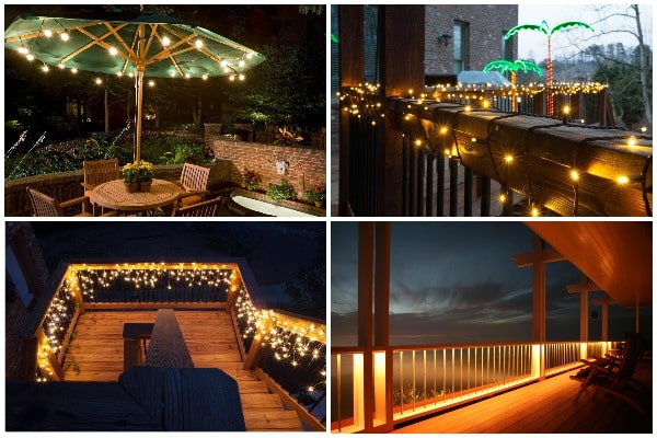 lightsinto your deck posts and railings