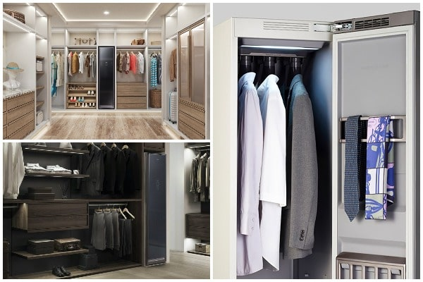 Samsung AirDresser the wardrobe that refreshes, disinfects, and irons your clothes-min
