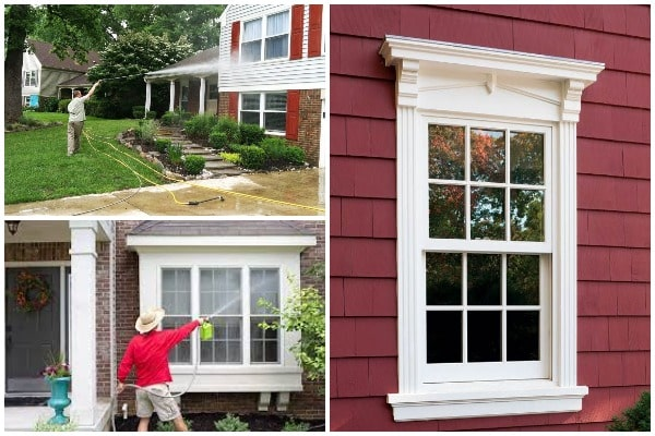 The dangers of cleaning wood windows with water and pressure washing